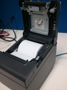 An open Epson receipt printer