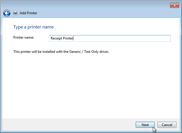 Getting a USB receipt printer working on Windows – Mike's