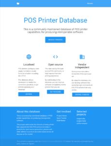 escpos-printer-db landing page